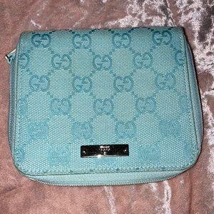 Gucci medium wallet baby blue excellent condition!